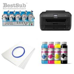 Taza FUNNY JS Coating Sublimación 330 ml Interior y Asa Color Rojo + Caja Individual