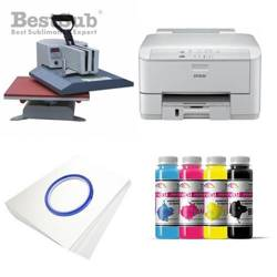Tinta Best Sub HQ para cristales, color Yellow 1000 ml